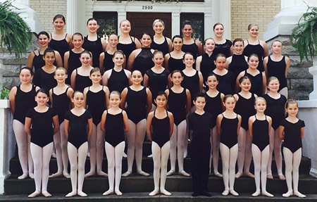 Dance company at Ms. Jordan's School of Dance